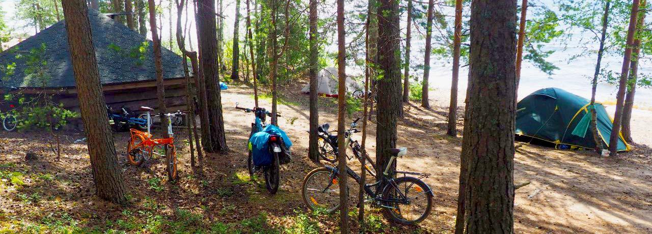 Велоприключения с палатками